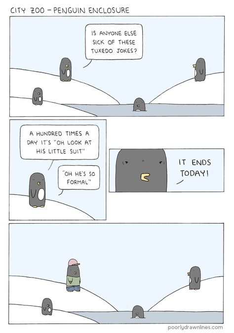 Poorly Drawn Lines - penguins