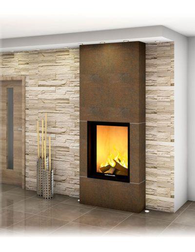 Heizkamin Mit Ofenbank Sichtfenster Grosskeramik Unterschiedliche Designs Moglich Heizkamin Kamin Design