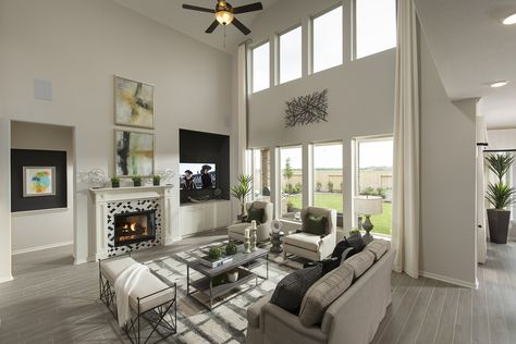 Family Room Plantation Homes In Grand Mission Estates Richmond Tx The Wolfforth