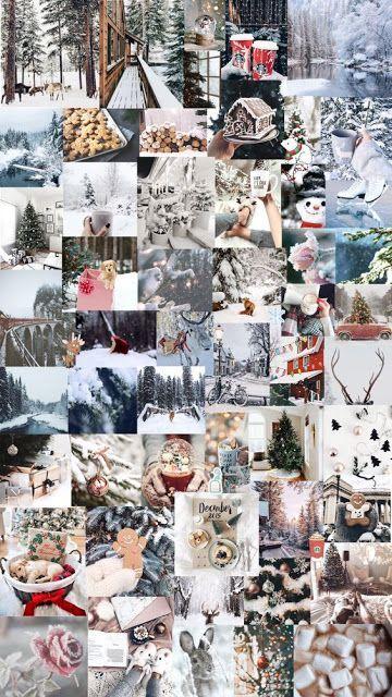 26 Trendy Aesthetic Christmas Wallpaper Collage Christmas Collage Winter Wallpaper Cute Christmas Wallpaper