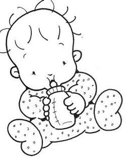 30 Desenhos De Bebes Para Colorir Pintar Imprimir Ou Preparar