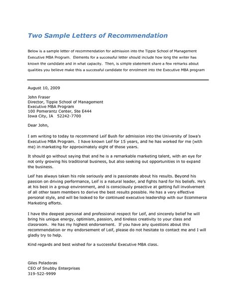 basic letter of recommendation template best template News to Go 4
