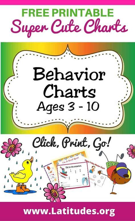 Printable Behavior Charts for Kids (Ages 3-10)   ACN Latitudes