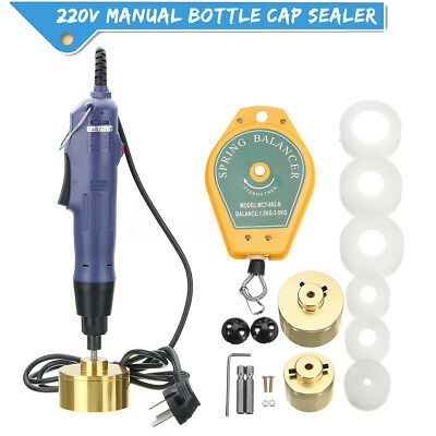 Ad Ebay 10pcs 80w Electric Bottle Capping Machine Manual Cap Sealing Sealer Machine 220v Sealer Bottle Ebay
