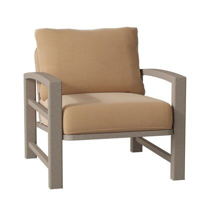 Tropitone Lakeside Patio Chair With Cushions Frame Color Moab Cushion Color Canvas Heather Beige Patio Chairs Tropitone Wood Patio Chairs