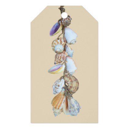 Hanging Shells Gift Tags Beach Seashell Gifts Ocean Sea Gift Tags Beach Gifts Seashell Gift