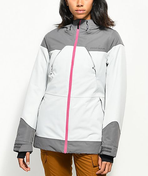 PWDR ROOM Heartland Grey 10K Snowboard Jacket | Jackets