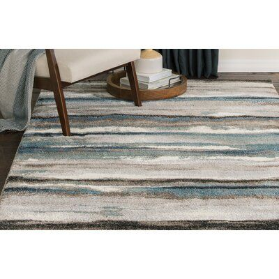 Latitude Run Jayesh Abstract Blue Brown Area Rug Area Rugs Rugs