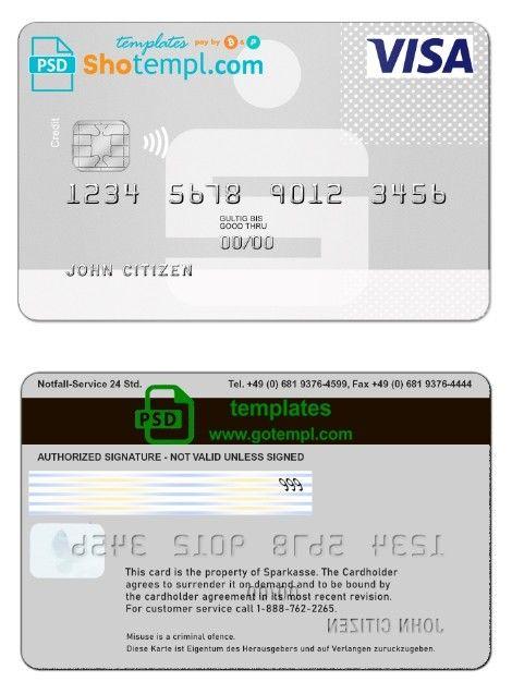 Gotempl In 2020 Visa Card Document Templates Card Template