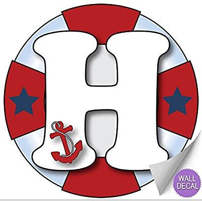 Amazon Com Wall Letters T Nautical Ocean Sailing Red White Blue Letter Stickers Alphabet Initial Viny Vinyl Letter Stickers Initials Sticker Letter Stickers