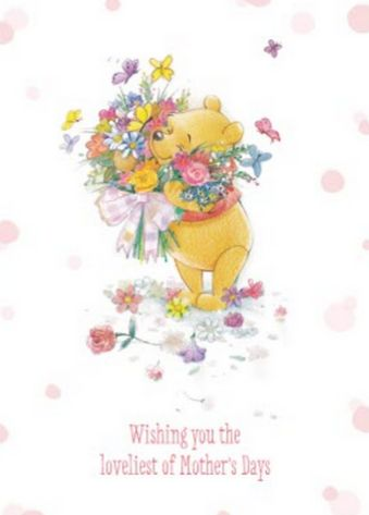 Winnie The Pooh Card Perfect For Mother S Day Card Code Wp475