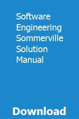 Software Engineering Sommerville Solution Manual Dating Software Solutions Materials Science And Engineering