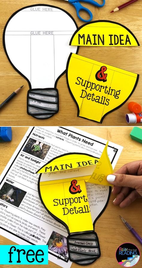 Reading Comprehension Craft: Main Idea and Details Activity, Nonfiction Activity