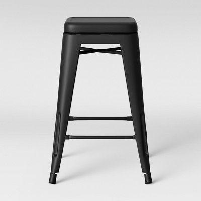 Super Set Of 2 Carlisle Backless Swivel Counter Stool Matte Black Creativecarmelina Interior Chair Design Creativecarmelinacom