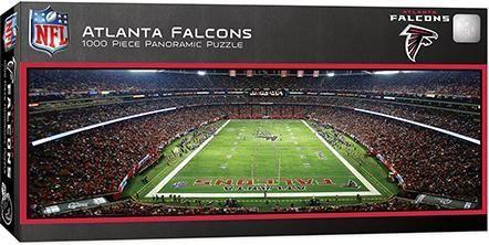 19 99 Atlanta Falcons 1000 Piece Panoramic Puzzle Atlanta Falcons Football Falcons Football Atlanta Falcons