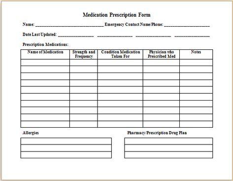 Medical prescription form at http\/\/wwwbestmedicalforms - medical leave form