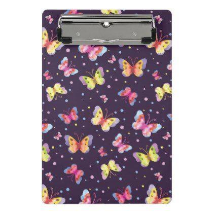 purple butterfly clipbaord