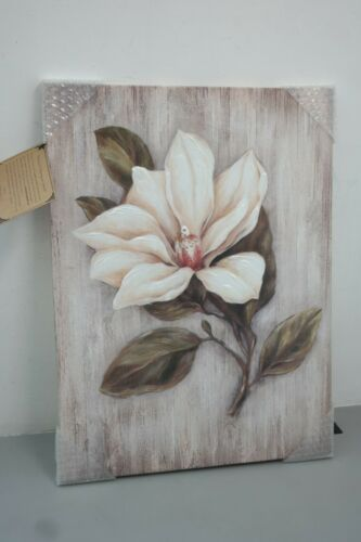 Flower Artwork Floral Canvas Painting White Magnolia Picture Prints Wall 27d In 2020 Flower Artwork Magnolia Pictures Print Pictures
