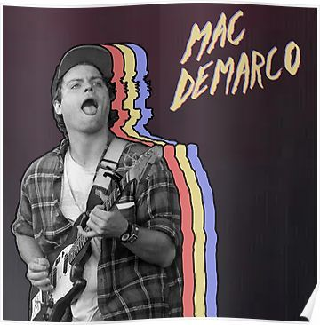 mac demarco layered poster by hrubiks