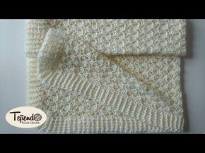 Manta tejida en crochet para bebe cobijita tejida a