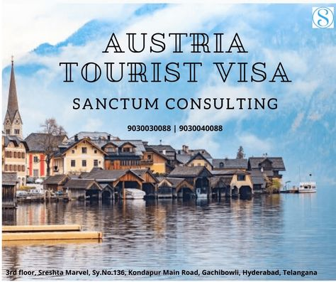 Austria combines the contemporary with the historic. Sanctum provides you smooth and easy visa services.   #Austriavisitor #Travelagents #Travelguide #Visaconsultantsingachibowli #Travelers #Visaservices #Visaassistance #Explore #Vacation #Austriavisaservices #Austriavisafee #Austriavisaapplication #Visaprocess #Visitorvisa #Tarvelpics #Austriavisa #Socialmedia #Travelagentsinhyderabad #Austriavisadocumentsrequired #Travelvisa #Travelcompany