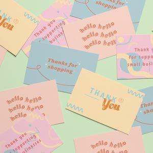 4 Pastel Thank You For Your Purchase Cards Template Set Printable Business Stationery Aesthetic Business Bran Kartu Nama Bisnis Kartu Nama Ilustrasi Bisnis