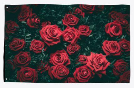 Roses garden flag