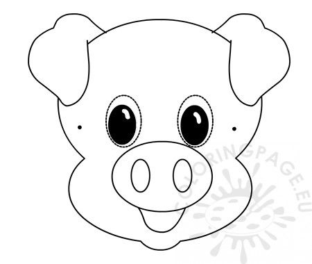 Pig Mask Template Paper Mask Template Mask Template Paper Mask