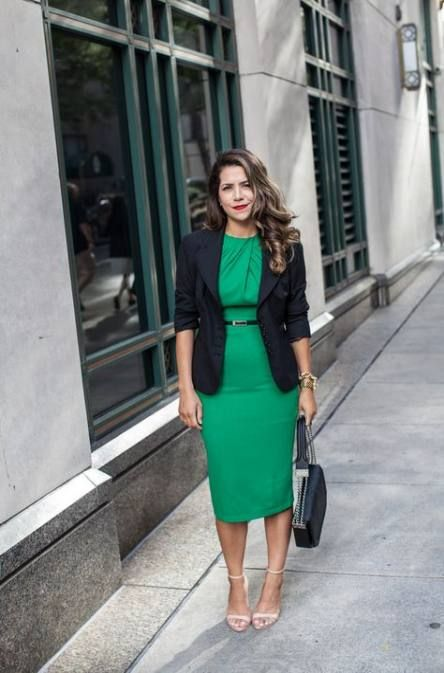 Trendy How To Wear Green Shoes Heels