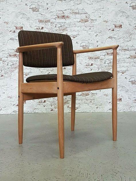 Danish Modern Oak Chair Stuhl Eiche Armlehnstuhl Farso Stolefabrik 1960er In 2020 Stuhl Eiche Danish Modern Armlehnstuhl