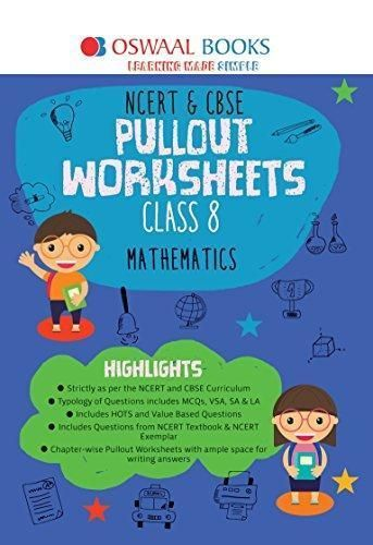 Oswaal NCERT and CBSE Pullout Worksheets Class 8 Maths (For