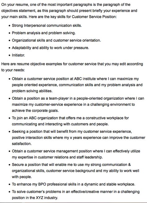 Clerical \ Office Resume Skills -    resumesdesign - customer service call center resume objective