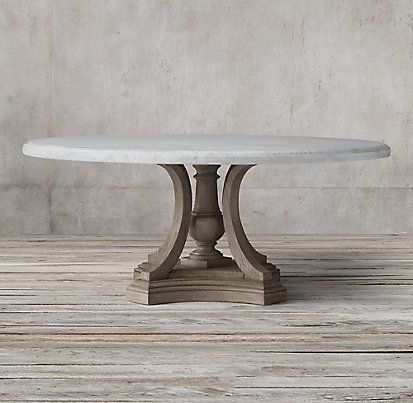 St James Marble Round Dining Table Collection Rh Round Marble Dining Table Dining Table Marble Marble Dining