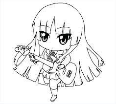 Image Result For No Color Anime Drawings Halaman Mewarnai Chibi Animasi