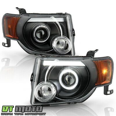 Ad Ebay 2008 2012 Ford Escape Suv Black Led Tube Halo Projector Headlights Headlamps Set In 2020 Projector Headlights Ford Escape Headlamps