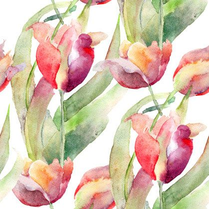 Painted tulips for wall decor by print a wallpaper offering wallpaper solution at usd 2 0