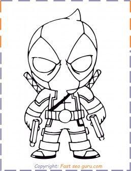 Pin By Alexandra Nyikos On Szuperhosok Superhero Coloring Pages Deadpool Drawing Superhero Coloring