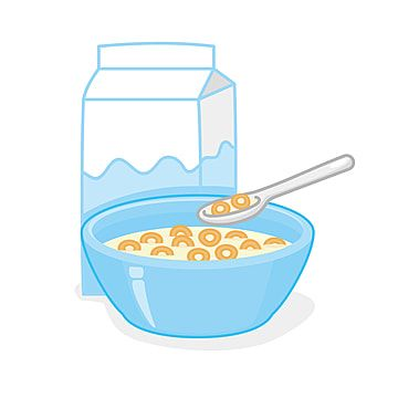 Bowl Of Cereal And A Box Of Milk Vector Illustration Isolated On White Background Cereal Milk Food Png And Vector With Transparent Background For Free Downlo Ilustrasi Vektor Latar Belakang Putih