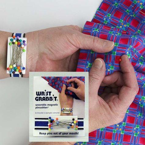 Hemline Round Gingham Wrist Pin Cushion