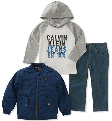 Calvin Klein Baby 3 Pc Jacket Sets Boys Calvin Klein Baby Calvin Klein Jeans T Shirt And Jeans