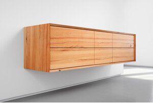 Kernbuche Massivholz Sideboard Auf Gehrung 6 Schubladen Serie X