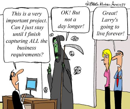 Humor  Cartoon How Long Does It Take To Capture All Business