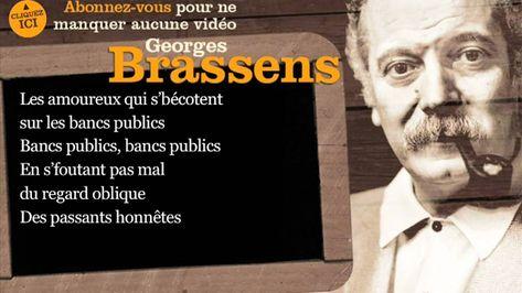 3 3 Georges Brassens Les Amoureux Des Bancs Publics Paroles Karaoke Avec Images Brassens Chanson Chansons Francaises