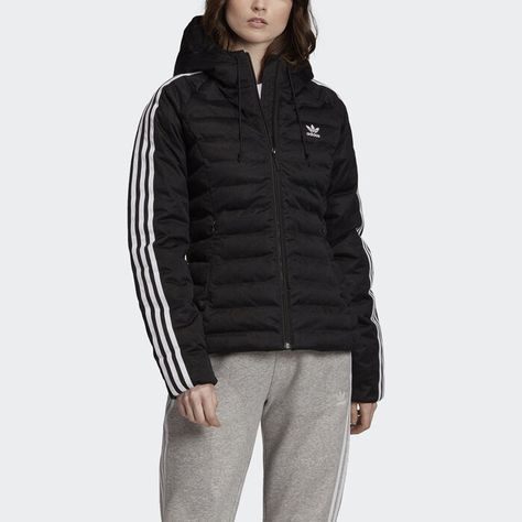Buy adidas Performance BTS 3 Stripes Hooded Winter Jacket