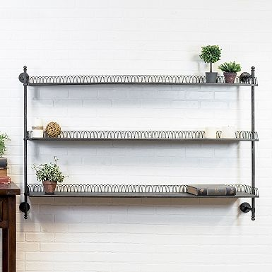 Looped Metal Wall Shelf Rack With Images Metal Wall Shelves