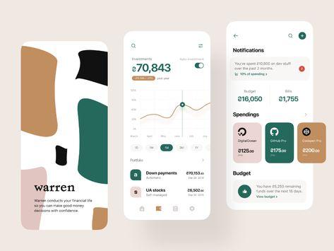 Warren Splash Investment Category Interface Design User Interface User Interface Design