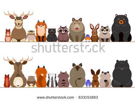 Woodland Animals Border Set Woodland Animals Animals Woodland Animals Theme