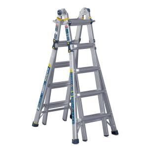 Werner 22 Ft Reach Aluminum 5 In 1 Multi Position Pro Ladder With Powerlite Rails 375 Lbs Load Capacity Type Iaa Duty Rating Mt 22iaa