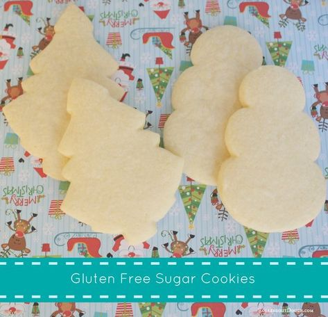 **Use this for Christmas Eve 2013** Easy gluten free sugar cookie recipe- simple, yummy ingredients, perfect for holiday cookies!