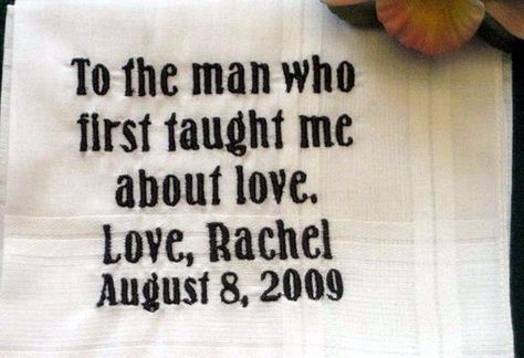 Personalized Wedding Gift-Wedding handkerchief-Father of the Bride with Gift Box